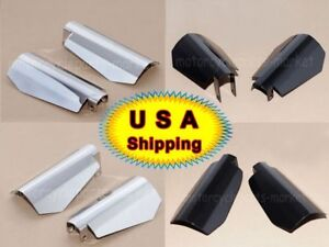 Motorcycle Hand Guards Shield Coffin Cut Chrome For Harley Dyna FXD Models USA
