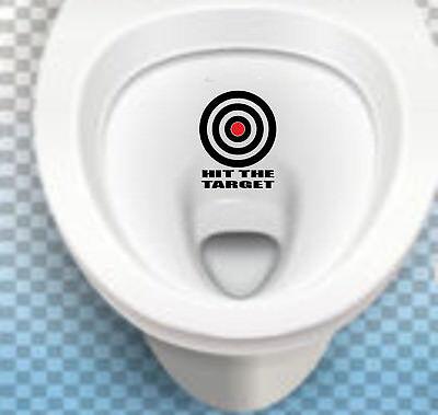 Hit The Target Removable Waterproof Toilet Sticker Aim Joke Wall Decor Lid