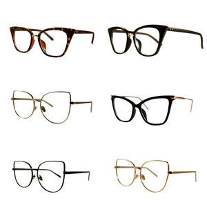 54802dbecd VTG 50s 60s Style Clear Lens Cat Eye Office Retro Rockabilly Premium ...