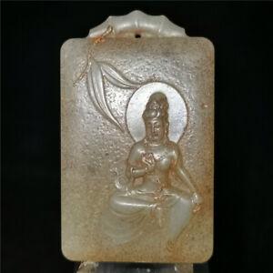 100/% Natural Talhada À Mão Pingente Jade Chinês-Dragon Phoenix Natural