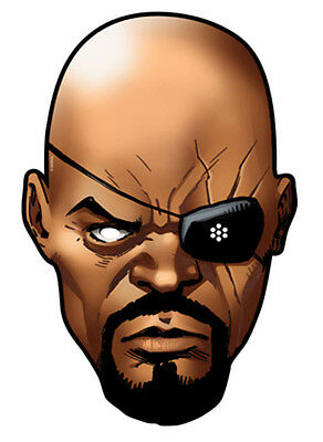 Official Nick Fury Marvel The Avengers Card Party Face Masks Mask  - Super Hero