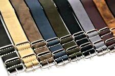 ZULU strap,Genuine Leather Military Watch Band Handmade ZULU 18 20 22 24...