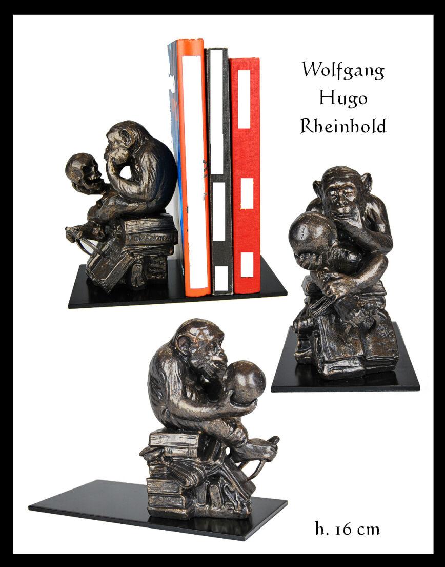 BUCHSTÜTZE WOLFGANG HUGO RHEINHOLD    AFFE MIT SCHÄDEL | Online-verkauf  08ee6b
