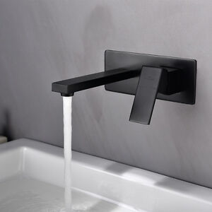 wasserhahn unterputz armatur mischbatterie wand waschtisch badarmatur wasserfall ebay. Black Bedroom Furniture Sets. Home Design Ideas