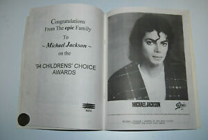 Michael Jackson flyer Body Sculpt Childrens Choice Awards 94 Barrio Boyzz signed