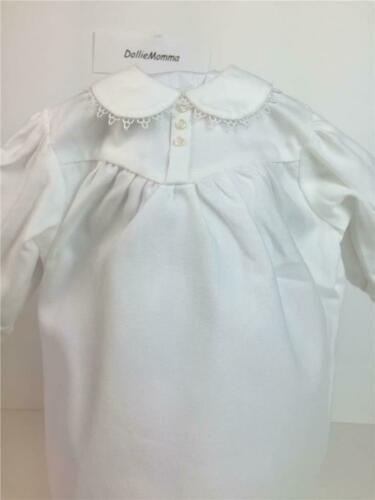 American Girl Addy White Flannel Nightgown~Pajamas Retired Pleasant Company tag