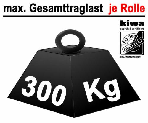 Poliamida vehículos pesados de transporte Lenk roles 4 x Ø 200 mm le-bo//iso-9001 Germany