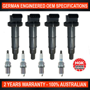 4x-Genuine-NGK-Iridium-Spark-Plugs-amp-4x-Ignition-Coils-for-Toyota-Camry-Rav-4