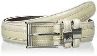 Stacy Adams Mens Genuine Leather Snakeskin W/ Crocodile Lizard Print Belt Sz 40