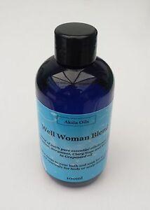 RMZ gut Frau Massage Bad Öl Aromatherapie Mischung 100ml Geranium Clary Sage