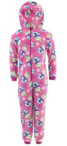 Pink-Snowman-Hooded-One-Piece-Pajamas-for-Girls