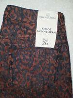 Bb Dakota Collective Khloe Skinny Stretch Womens Leopard Jeans Size 26 $136