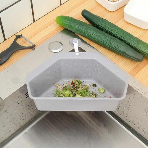 Kitchen Sink Drain Basket Vegetable Fruit Storage Basket Sponge Drainer Holder