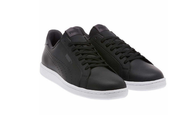 8963f52456e Buy PUMA Men s Smash Leather Classic Sneaker - Black Size 13 online ...