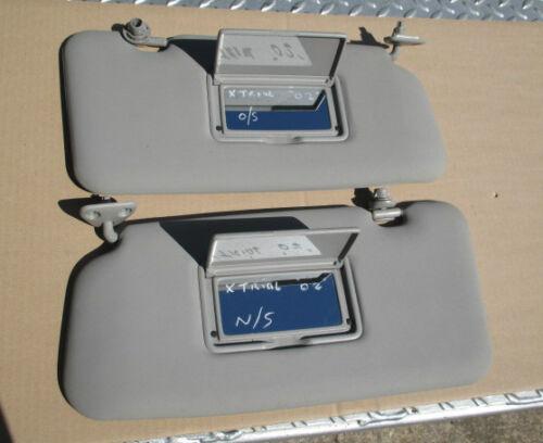 DRIVER /& PASSENGER SIDE SUN VISOR 2x VANITY MIRROR TYPE NISSAN X-TRAIL T30