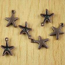 35pcs Copper-tone Starfish Charms H2168