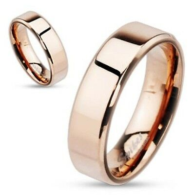 Personalized Rose Gold IP Over Stainless Steel ring - Free Engraving