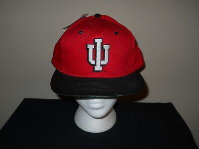 Sku Einfach Zu Reparieren Vtg-1990s Indiana Hoosiers Groß / Riesig Logo Snapback Hat-green Krempe