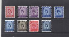Isle of Man. 1958-69. Complete set x 9 values inc. Phosphor varieties. Fine MNH.