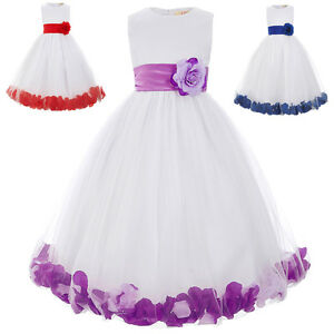 Flower Girl Dress Wedding Birthday Princesses Ball Prom Gown Pageant Party Dress