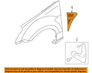 FORD-OEM-08-09-Focus-Fender-Vent-Grille-Grill-Left-8S4Z16178BA