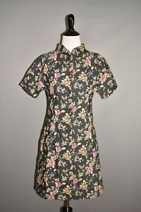 ULYANA SERGEENKO $3500 Black Floral A-line Dress Medium