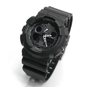 623bc0162f89 Casio G-Shock GA-100-1A1 Black Original Analog Digital Mens Watch ...