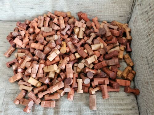 Lot Of 230 Lincoln Logs Wood Single 1 Notch Parts