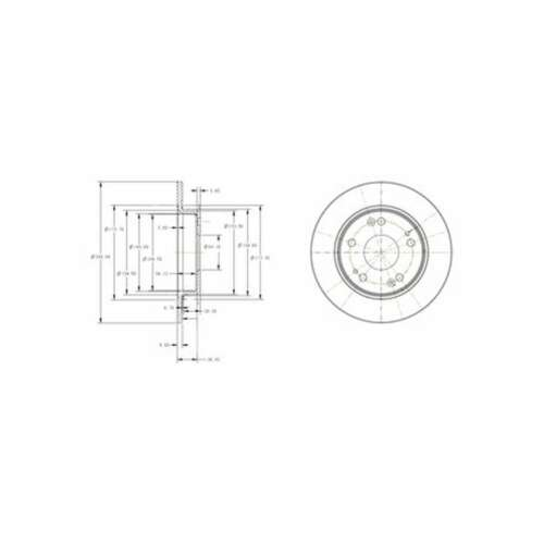 BG4118C Genuine Delphi Rear Solid Coated Brake Discs Set Pair