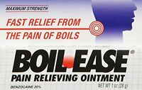 5 Pack - Boil Ease Ointment Maximum Strength Pain Relieving Ointment 1oz Each on sale