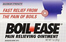 5 Pack - Boil Ease Ointment Maximum Strength Pain Relieving Ointment 1oz Each