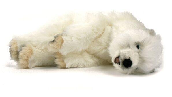 Miss oh/Stuffed Plush Soft Toy Stofftier realistic  5260 polar cub bear sleeping