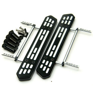 1 Pair Alloy Foot Side Pedal Steps Plate Black For D90 SCX10 1//10 RC Crawler #A