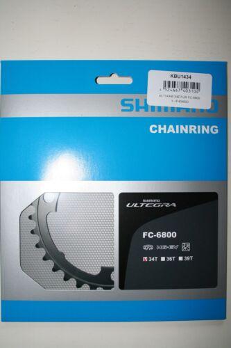 alluminio nuovo Foglio Catene Shimano Ultegra 34 denti fc-6800 2 x 11