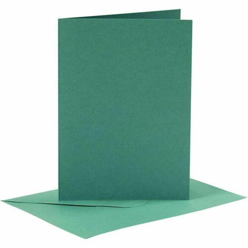 A6 Rojo o Verde Tarjetas y Sobres espacios en blanco para elaboración de Tarjetas Navidad 240gsm