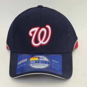 pretty nice 7ce44 5ef11 Image is loading New-Era-WASHINGTON-NATIONALS-39Thirty-Stretch-Fit-Medium-