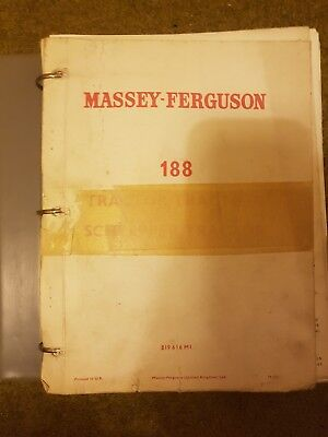 Massey Ferguson Massey 100 Series 188 Parts Manual Reprint 819616m1 Perfect In Workmanship