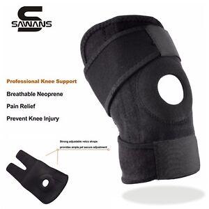 Adjustable-Neoprene-Gel-Open-Cap-Patella-Knee-Support-Pad-Strap-Brace-Black-UK