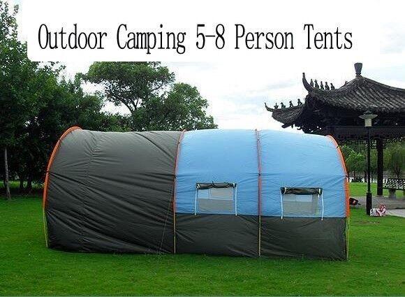58 Persone Tunnel Famiglia grande tela impermeabile tende da campeggio in fibra di vetro