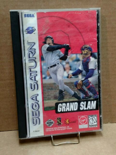 Grand Slam - Complete w/ Manual - Sega Saturn - FREE SHIPPING