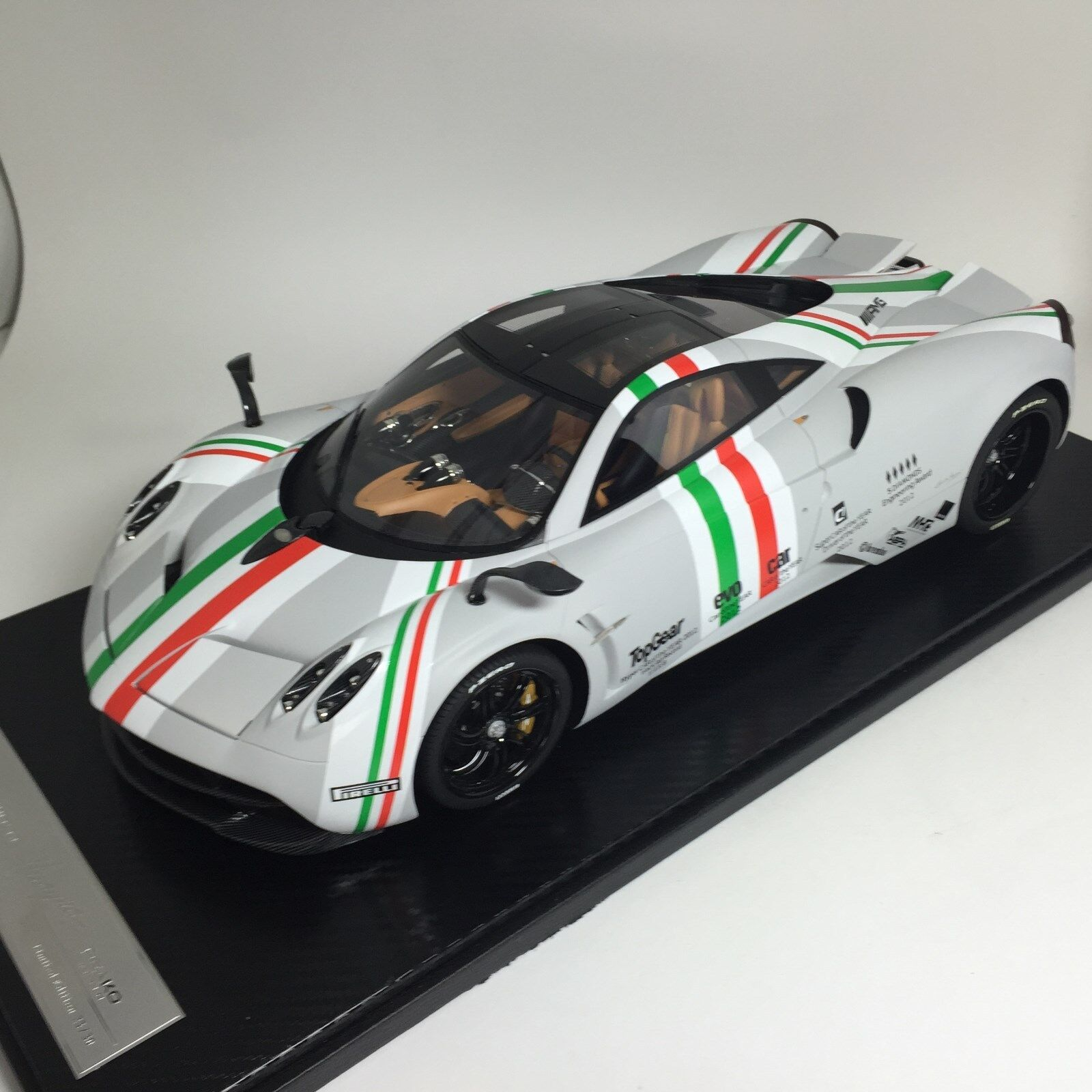 1 12 Peako MG Pagani Huayra 2013 Matt Grey Top Gear Ltd. 30 pcs