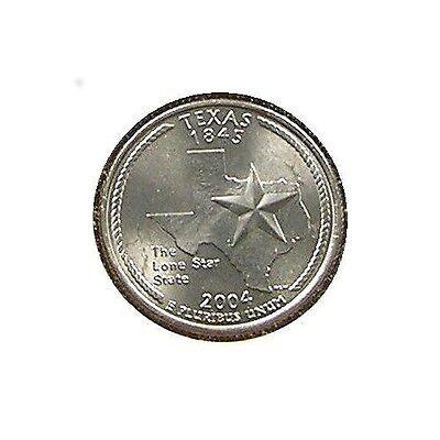 BU Texas The Lone Star State Quarter 2004 D Coin Denver Mint