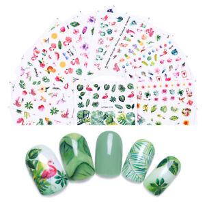 8Sheets-LEMOOC-Nail-Art-Water-Decals-Summer-Theme-Transfer-Nails-Stickers-Tips