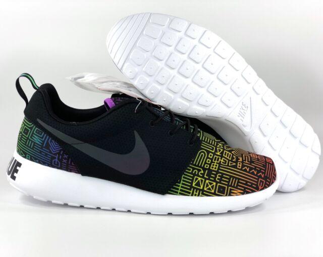 promo code 4ed83 e084f Nike Roshe One BT QS Be True LGBTQ Pride Black White 808715-006 Men s 11.5