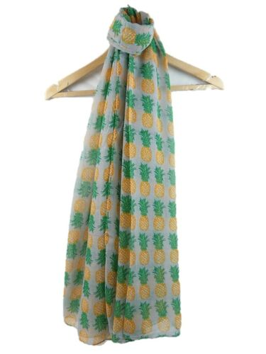 HIGH QUALITY Pineapple Fruit Print Women/'s Large Scarf Shawl Wrap Gift UK SELLER