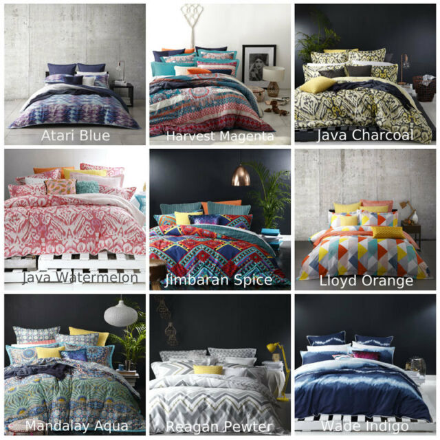 Ltd By Logan and Mason Doona Quilt Cover Set Single Double Queen King Size Bed