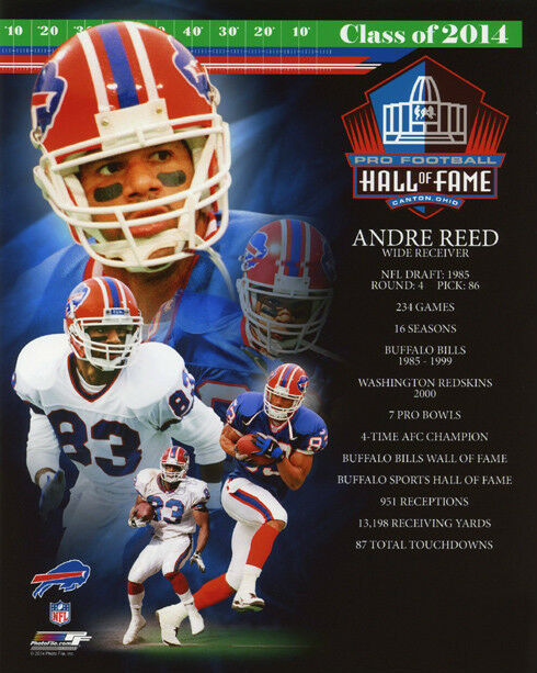dfd51c8201a Andre Reed Buffalo Bills 2014 NFL Hall of Fame Photo (size 8