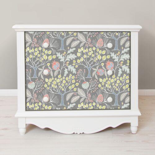 Wallpops Contemporary Botanical Groovy Garden Navy Gray Peel /& Stick Wallpaper
