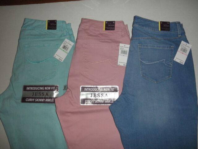 "NWT Gloria Vanderbilt Womens /""Jessa/"" Portland Blue Curvy Ankle Skinny Jeans"