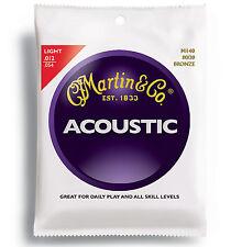 3 Pack Sets Martin 12 - 54 M140 Light Acoustic 80/20 Bronze Strings M140PK3